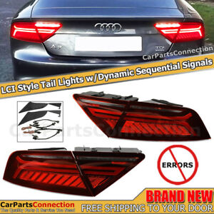 Tail Lights LCI Facelift Style A7 S7 12-15 RS7 14-15 LED Dynamic Sequential Lamp