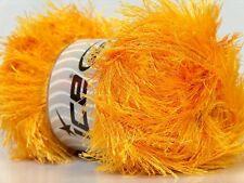LG 100 gram Canary Yellow Eyelash Yarn 22710 Ice Packer's Gold Fun Fur 164 Yards