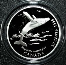 Humpback Whale - 1998 Canada 50 cent Proof Sterling Silver Coin