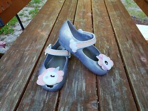Mini Melissa Ultragirl Unicorn Glittery Mary Jane Flat Toddler Size 9