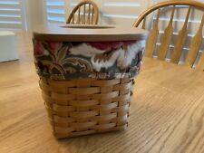 Longaberger Tall Tissue Basket Set - Basket, Liner, Protector, and Lid