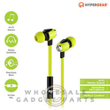 Naztech HyperGear dBm Wave 3.5mm Earphones w/Mic - Green Loud Audio Hear Sound