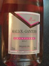 6 BOTTLES CHAMPAGNE BRUT ROSE' MALLOL GANTOIS CRAMANT