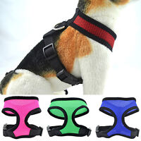Soft Mesh Pet Harness Pet Control Walk Collar Safety Strap Dog Cat Vest CA RR