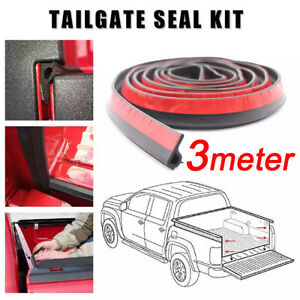 Universal Weather Pickup Truck Bed Tailgate Seal Strip Cover Sound Insulation
