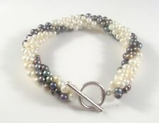 Freshwater Pearl  Bracelet With 925 Sterling Silver T Bar Clasp