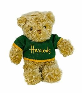 Harrods Teddy Bear in Green and Gold Harrods Knitted Jumper