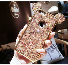 Luxury Chrome Bling Giltter Mickey Mouse Soft Case Cover for iPhone 6 6S 7 Plus