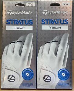 TaylorMade Stratus Tech Golf Glove 2-Pack Lot Cadet Medium Large CML #84342