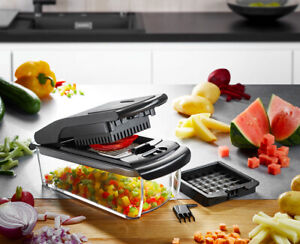 GEFU Würfel- und Stifteschneider TREPPO – für Obst und Gemüse, Pommes Frites, Fe