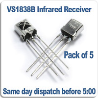 5x VS1838B Infrared Receiver Module 38khz remote IR diode Pack of 5