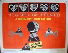 DO NOT DISTURB half sheet movie poster 22x28 DORIS DAY ROD TAYLOR VALENTINE'S