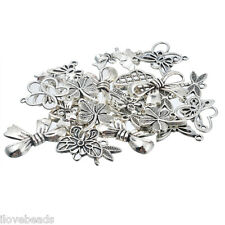 LOVE 20x Silver Tone Mixed Animal Butterfly Leaf Pendants Fashion Charm Jewelry