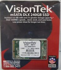 Visiontek 900986 240GB 3D MLC mSATA SSD Hard Drive 500MB/s - New