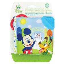 Disney Mickey Mouse Clip on Soft Baby Activity Book With Teether