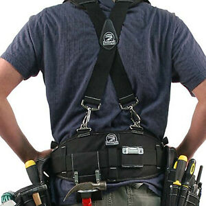 Gatorback B140+B606, Carpenters Tool Belt & Suspenders Combo. Sizes (S - 3XL)