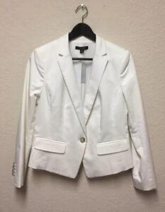NWT Ann Taylor Petite White One Button Blazer 6P
