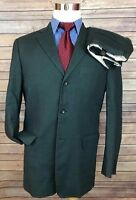 Banana Republic Gray Linen Blend Slim Fit 3-Btn Wool Suit 38R 30x30 Flat Front