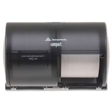 New Georgia Pacific Compact Side-By-Side Two Roll Bathroom Tissue Dispenser