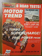 MOTOR TREND MAY 1962 TURBO SUPERCHARGE! FREE POWER FROM EXHAUST