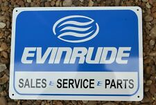 Evinrude Service Sales Sign Marina boat outboard motor