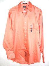 Mens Arrow Classic Fit Sateen Long Sleeve Dress Shirt - 15 1/2 34/35- NWT