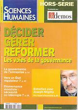 Sciences humaines Hors série N°44 mars 2004 Décider, gérer, réformer Gouvernance