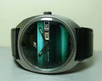 Vintage Enicar Automatic Day Date SWISS MENS ANTIQUE WRIST WATCH G233 Old Used
