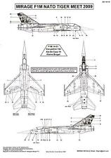 Berna Decals 1/144 DASSAULT MIRAGE F1M 2009 NATO Tiger Meet Spanish Air Force