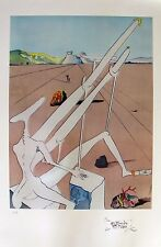 "Salvador Dali ""MARTIAN DOUBLE HOLLOW ELECTRIC"" Signed Limited Edition Lithograph"