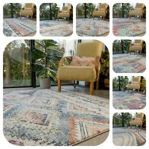 Large Moroccan Rugs Living Room Bedroom Modern Colourful Soft Carpet Runner Mats