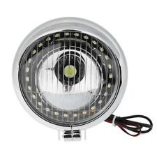 Chrome 5 inch Universal Motorcycle Headlight Front Head Lamp Fog Light Bulb