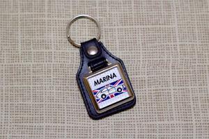 Morris Marina Coupe Keyring - Leatherette & Chrome Keyfob