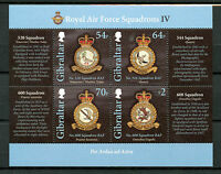 Gibraltar 2015 MNH Royal Air Force RAF Squadrions IV 4v M/S Aviation Stamps