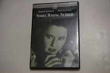Sorry, Wrong Number (DVD, 1948) Barbara Stanwyck