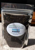 ENGLISH BREAKFAST Loose Leaf Tea, caffeine gets you up and going - 1-4 oz.