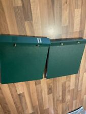 PEGGED FIRST DAY COVER ALBUM 2x green WITH 33 leaves Vintage good quality