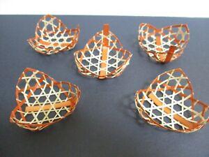 Yamako Japanese Bamboo decoration Dish Plate 5pcs brown for japanese food Chinmi