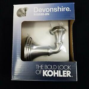 3-pack Devonshire Brushed Nickel Robe Hooks The Bold Look Kohler R10555-BN New