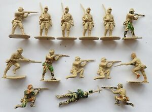 LOT x 14 AIRFIX 1:32 SCALE JAPANESE INFANTRY ARMY WWII PLASTIC TOY SOLDIERS