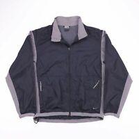 Vintage NIKE Black Zip Up Lightweight Track Shell Jacket Mens Size Medium