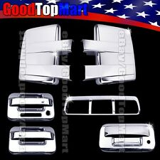 Chrome Covers For Ford F150 2009-2014 Tow Mirrors+2 Door+Tailgate KH+Brake Light