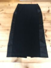 Hugo Boss pencil skirt size 10 black with side panels lined with back slit