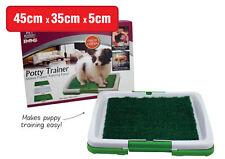Portable Indoor Training Toilet Pet Potty Grass Puppy Dog Trainer Mat Patch