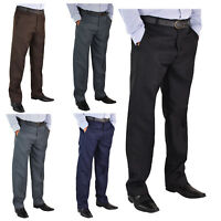 "Mens New Big Size Casual Formal Trousers Pants Waist 30-62 Leg Length 27""29"" 31"""