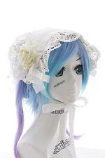 Lh-04-2 blanco Maid rosas pelo banda cabeza joyas Gothic Lolita Headband cosplay