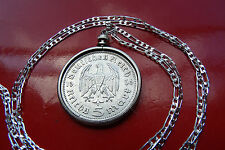 "1936 GERMAN SILVER WAR EAGLE 5 REICHSMARK on a 30"" 925 Silver Chain"