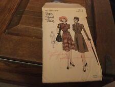 Vintage 1940's Vogue pattern, #S-4693 size 16, 1 piece dress and cravat.not used