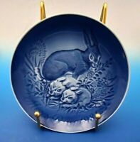 1981  Bing & Grondahl  Mother's Day Plate Hare or Rabbit and Babies