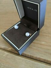 Ernest Jones. brand New 9ct Yellow Gold Freshwater Pearl Earrings. 8mm RRP £65